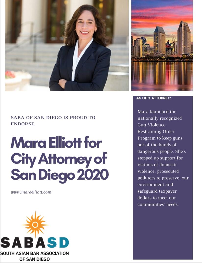 2020 Mara Elliott for city attorney