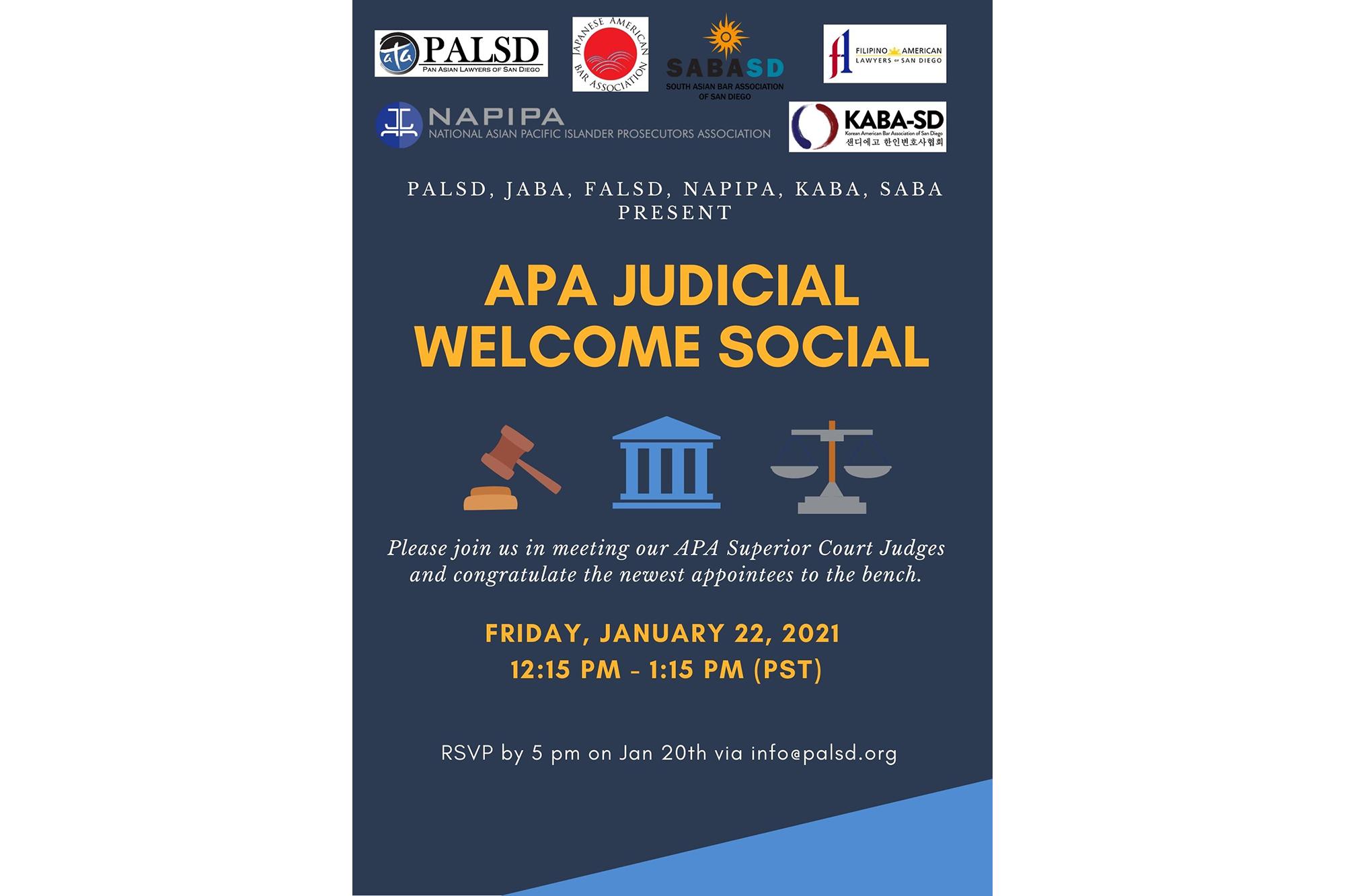APA Judicial Welcome Social